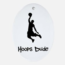 Hoops Dude Ornament (Oval)