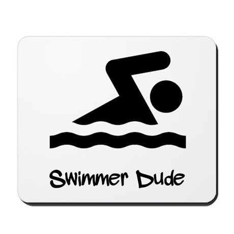 Swimmer Dude Mousepad