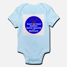 Social Security Infant Bodysuit