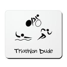Triathlon Dude Mousepad