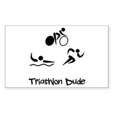 Triathlon Dude Decal