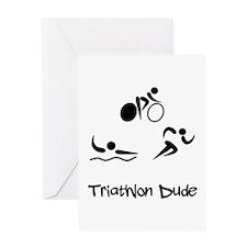 Triathlon Dude Greeting Card