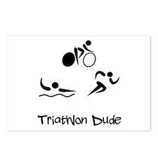 Triathlon Dude Postcards (Package of 8)