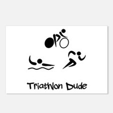 Triathlon Dude Postcards (Package of 8)
