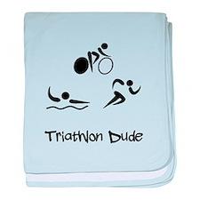 Triathlon Dude baby blanket