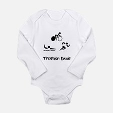 Triathlon Dude Long Sleeve Infant Bodysuit