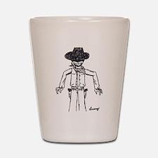Cowboy Sketch Shot Glass