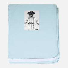 Cowboy Sketch baby blanket