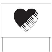 Piano Heart Yard Sign
