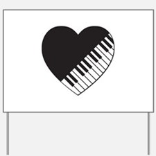 Piano Heart Yard Sign