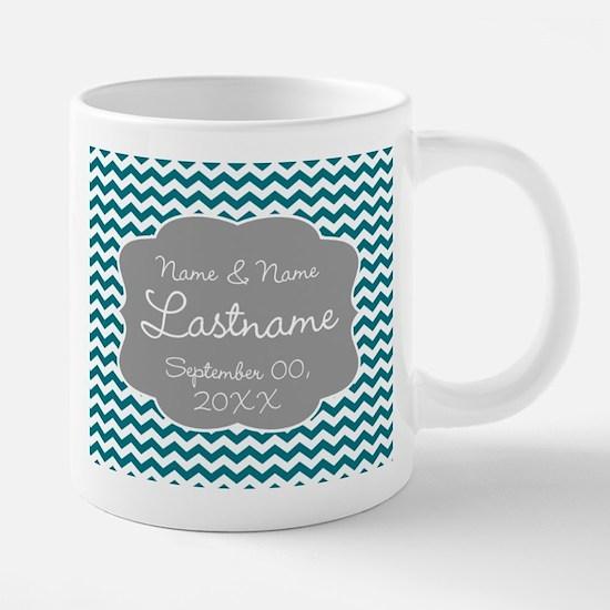 Wedding or Anniversary Chev 20 oz Ceramic Mega Mug