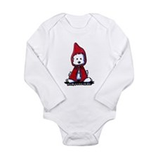 Red Riding Hood Westie Long Sleeve Infant Bodysuit