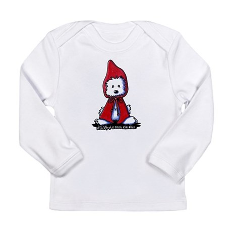 Red Riding Hood Westie Long Sleeve Infant T-Shirt