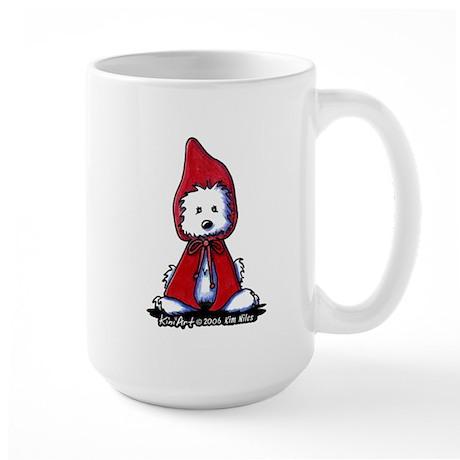 Red Riding Hood Westie Large Mug