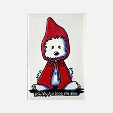 Red Riding Hood Westie Rectangle Magnet
