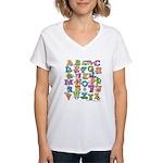 ABC Animals Women's V-Neck T-Shirt