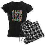 ABC Animals Women's Dark Pajamas