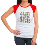 ABC Animals Women's Cap Sleeve T-Shirt