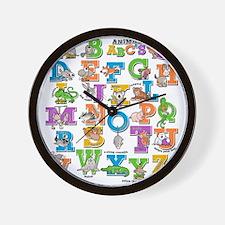 ABC Animals Wall Clock