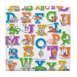 ABC Animals Tile Coaster