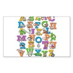 ABC Animals Sticker (Rectangle)