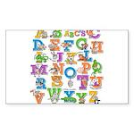 ABC Animals Sticker (Rectangle 10 pk)