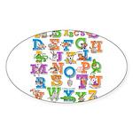 ABC Animals Sticker (Oval)