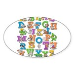 ABC Animals Sticker (Oval 50 pk)