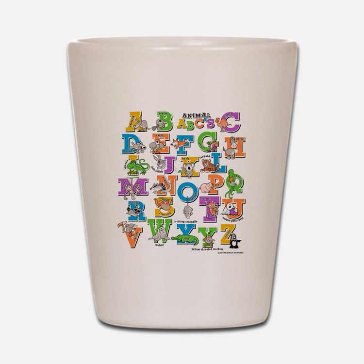 ABC Animals Shot Glass
