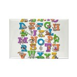 ABC Animals Rectangle Magnet