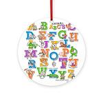 ABC Animals Ornament (Round)