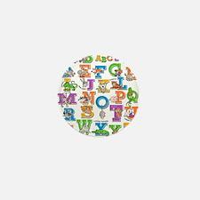 ABC Animals Mini Button
