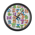 ABC Animals Large Wall Clock