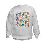 ABC Animals Kids Sweatshirt