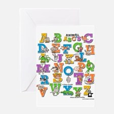 ABC Animals Greeting Card