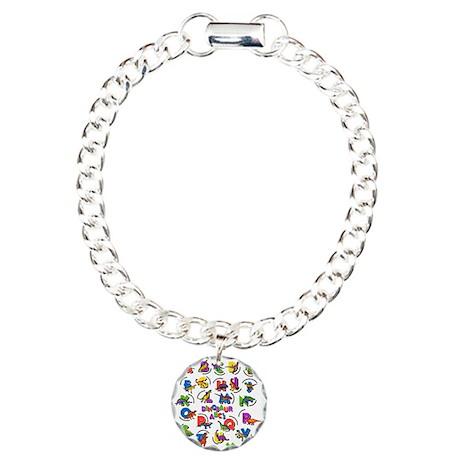 ABC Dinos Charm Bracelet, One Charm