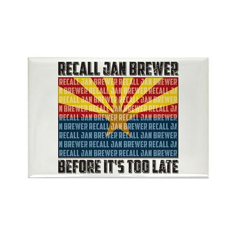 Recall Jan Brewer Rectangle Magnet