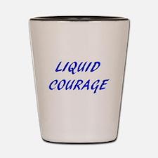 Liquid Courage - BLUE (Shot Glass)