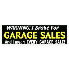 garage sales Car Sticker