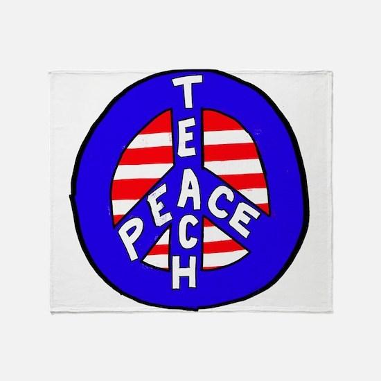 teach peace Throw Blanket