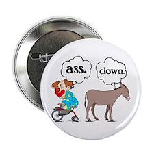 """Ass Clown 2.25"""" Button (10 pack)"""