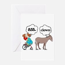 Ass Clown Greeting Cards (Pk of 10)