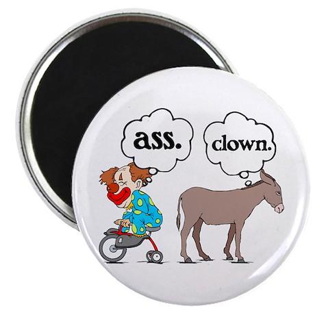"""Ass Clown 2.25"""" Magnet (10 pack)"""
