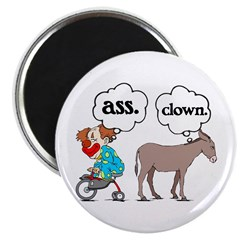 Ass Clown Magnet
