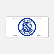 Greece Hellas Soccer/Football Aluminum License Pla
