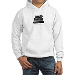 Full Logo Black and White Hooded Sweatshirt