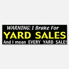 garage sales Bumper Bumper Sticker