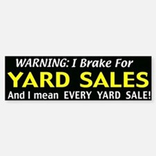 garage sales Bumper Bumper Sticker