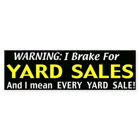 garage sales Sticker (Bumper)