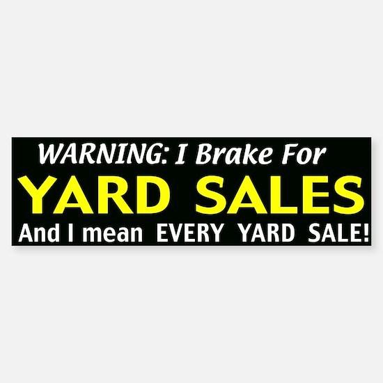 garage sales Sticker (Bumper)